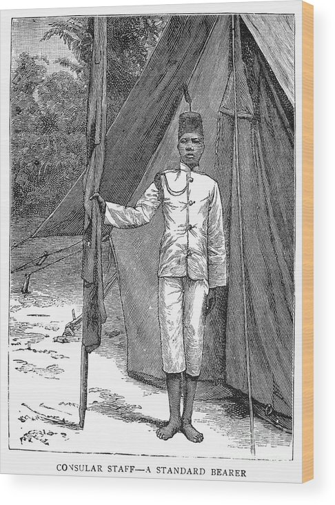 1889 Wood Print featuring the photograph Nyasaland: Consular Staff by Granger