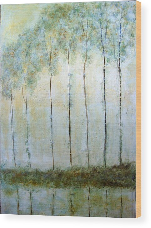 Poplar Wood Print featuring the painting Quiet Reflections by Melynnda Smith