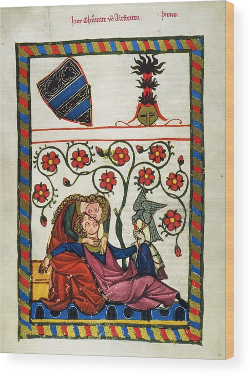 14th Century Wood Print featuring the photograph Heidelberg Lieder, 14th C by Granger