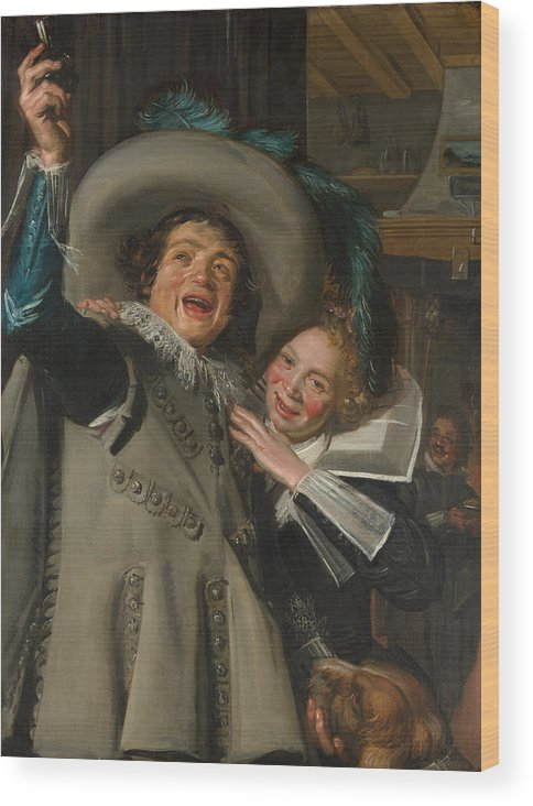 Baroque Wood Print featuring the painting Yonker Ramp And His Sweetheart by Frans Hals