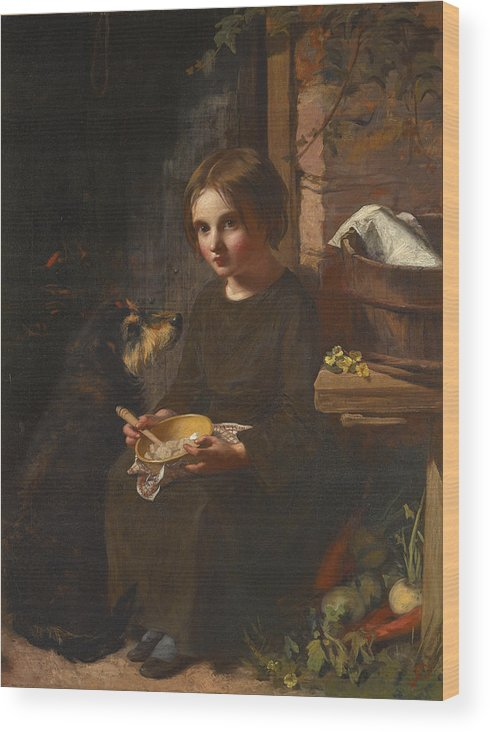 James Sant Wood Print featuring the painting Early Breakfast by James Sant