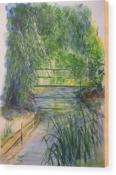 Giverny Wood Print featuring the painting A Day At Giverny by Lizzy Forrester