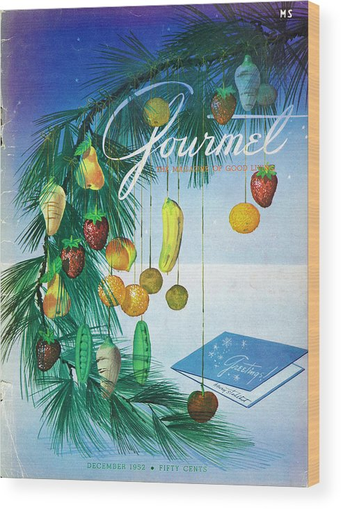Food Wood Print featuring the photograph A Gourmet Cover Of Marzipan Fruit by Henry Stahlhut