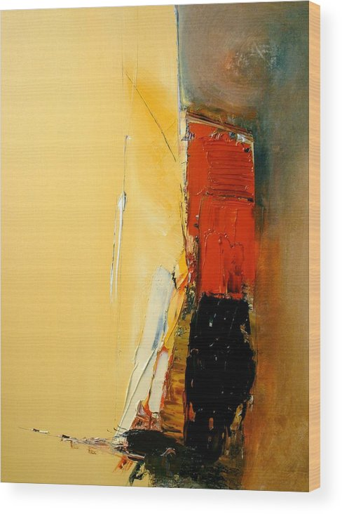 Abstract Wood Print featuring the painting A Manifestation Of Full Splendor by Stefan Fiedorowicz