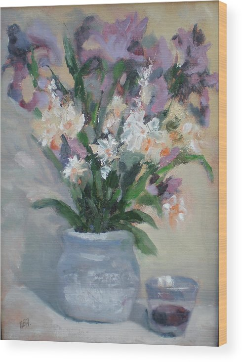 Still Life. Awarded Blue Ribbon At July 2007 Wood Print featuring the painting A Toast To Rose by Bryan Alexander