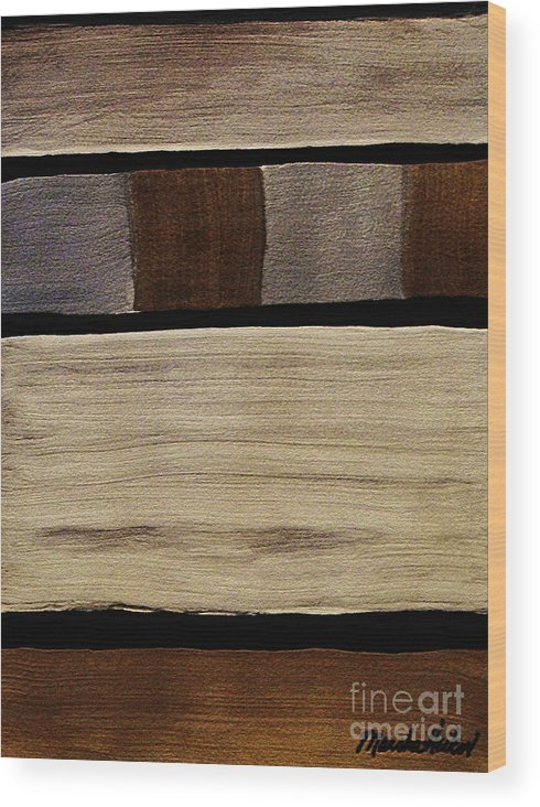 Painting Wood Print featuring the painting Abstract Medals by Marsha Heiken