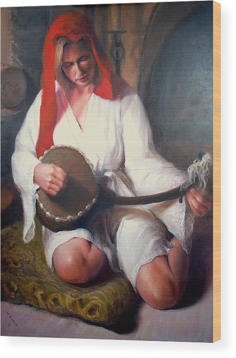 Realism Wood Print featuring the painting African Strings 1 by Donelli DiMaria