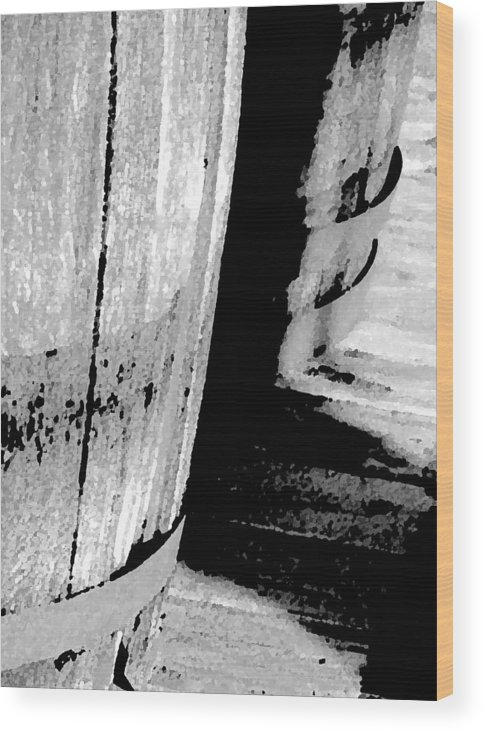 Abstract Wood Print featuring the photograph Barrels 3 by Lenore Senior