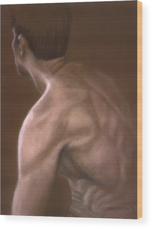 Man Wood Print featuring the painting Brown Iv by John Clum