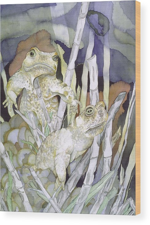 Animals Wood Print featuring the painting Bud And Weiss by Liduine Bekman