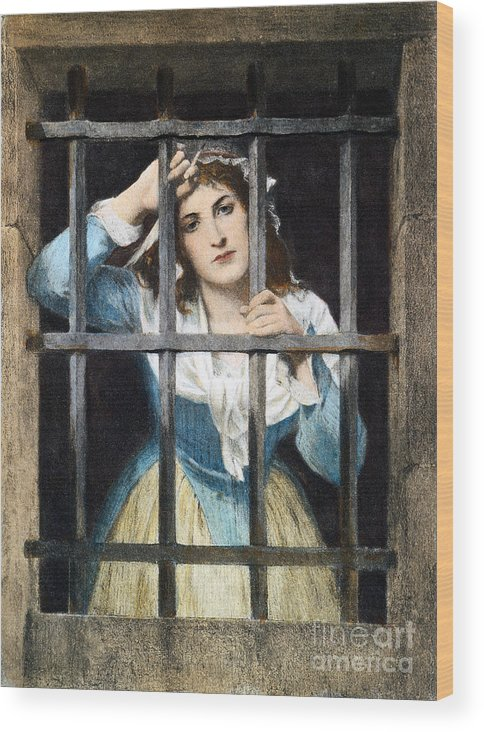 18th Century Wood Print featuring the photograph Charlotte Corday by Granger