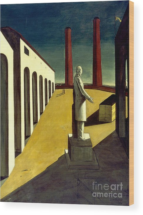 1914 Wood Print featuring the photograph Chirico: Enigma, 1914 by Granger