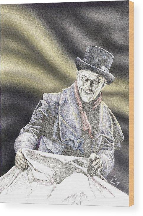 Boris Wood Print featuring the mixed media Creepy Thoughts by Preston Shupp
