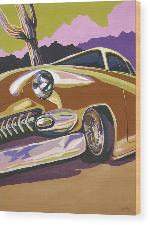 Route 66 Wood Print featuring the painting Cruisin by Sandy Tracey