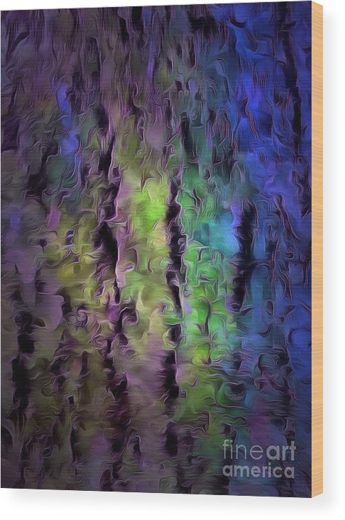 Abstract Wood Print featuring the photograph Dark Fantasy by Krissy Katsimbras
