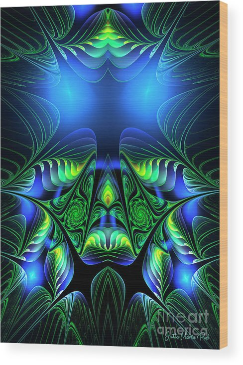 Fractal Wood Print featuring the digital art Depth by Jutta Maria Pusl