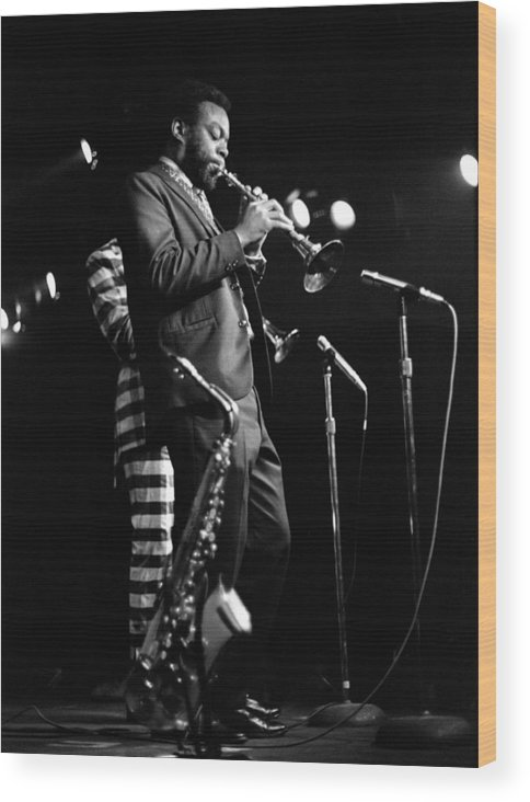 Ornette Coleman Wood Print featuring the photograph Dewey Redman On Musette by Lee Santa