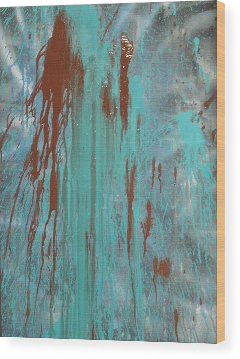 Emotion Wood Print featuring the painting Drooling by Leigh Odom