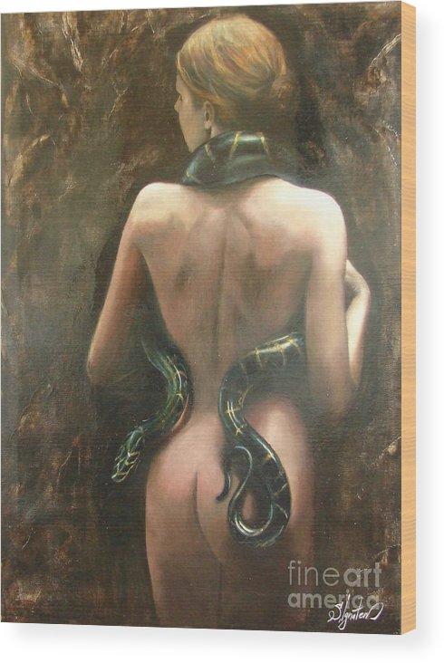 Art Wood Print featuring the painting Eva by Sergey Ignatenko