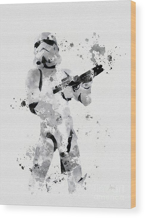 Star Wars Wood Print featuring the mixed media Faceless Enforcer by My Inspiration