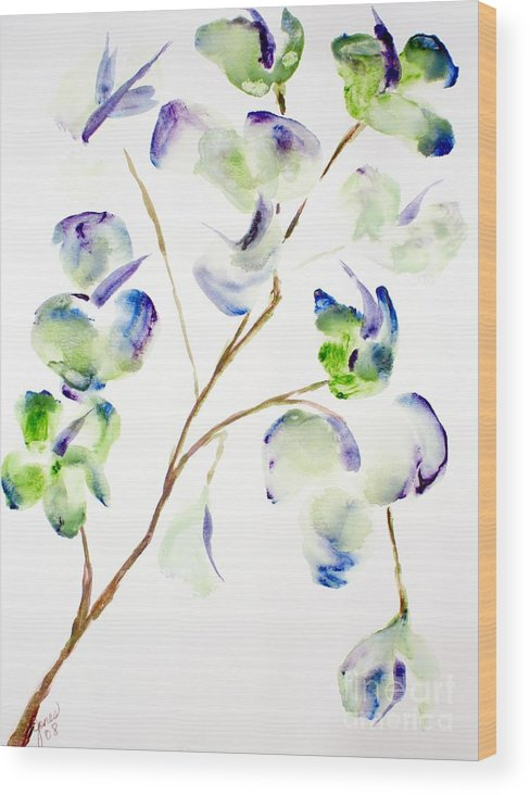 Flower Wood Print featuring the painting Flower by Shelley Jones