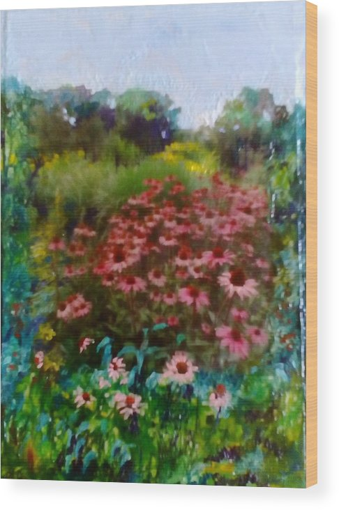 Garden Wood Print featuring the painting Garden by Angelina Whittaker Cook