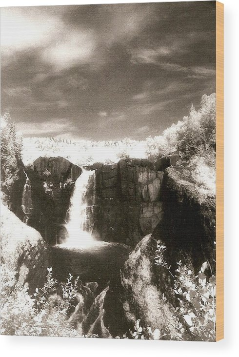 Photograph Wood Print featuring the photograph Grand Portage Falls by Patricia Bigelow