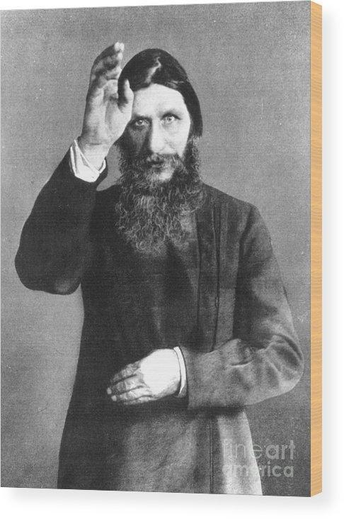 20th Century Wood Print featuring the photograph Grigori Efimovich Rasputin by Granger