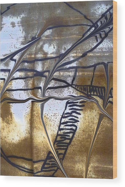 Abstract Wood Print featuring the photograph Hiding Out by Florene Welebny