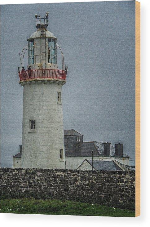 2015 Wood Print featuring the photograph Irish Lighthouse P7010448 by Deidre Elzer-Lento