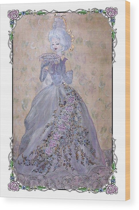 Still Life Wood Print featuring the painting Lavender Lady by Phyllis Mae Richardson Fisher