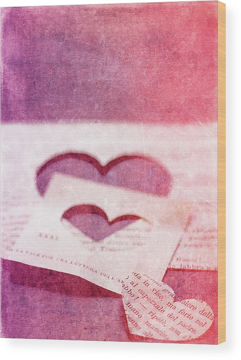 Hearts Wood Print featuring the photograph Lost Hearts by Rebecca Cozart
