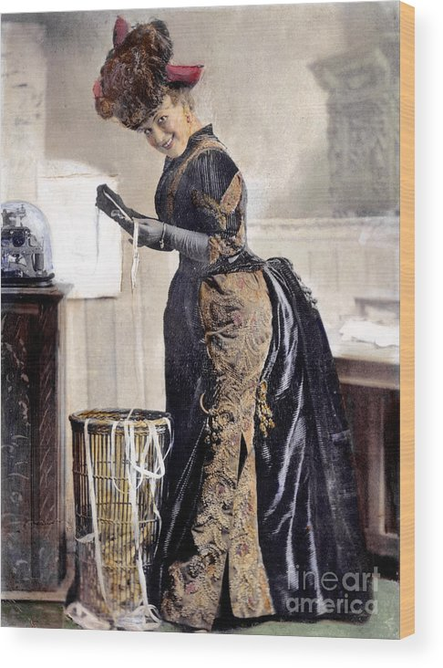 1890 Wood Print featuring the photograph May Waldron by Granger
