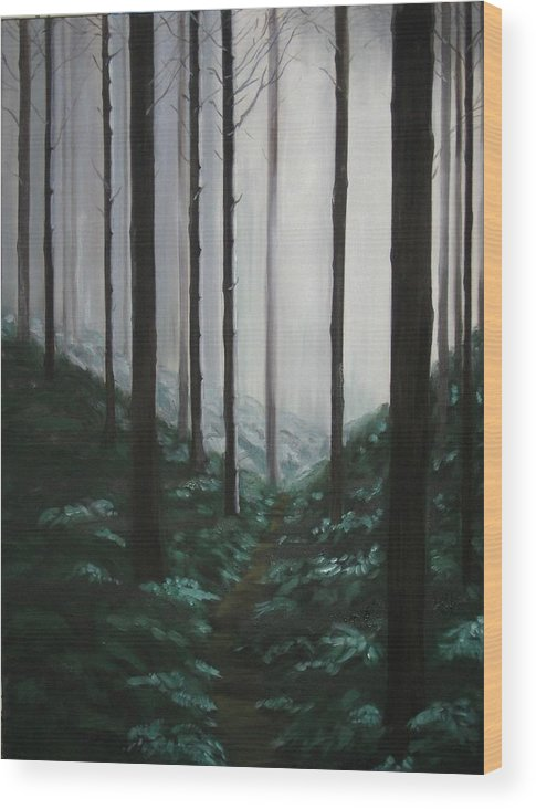 Forrest Wood Print featuring the painting Mists Of Past Times by Maren Jeskanen