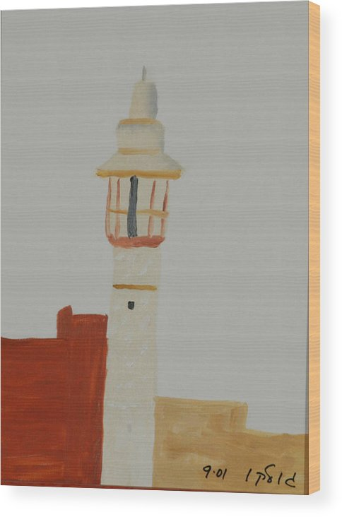Religious Wood Print featuring the painting Mosque by Harris Gulko