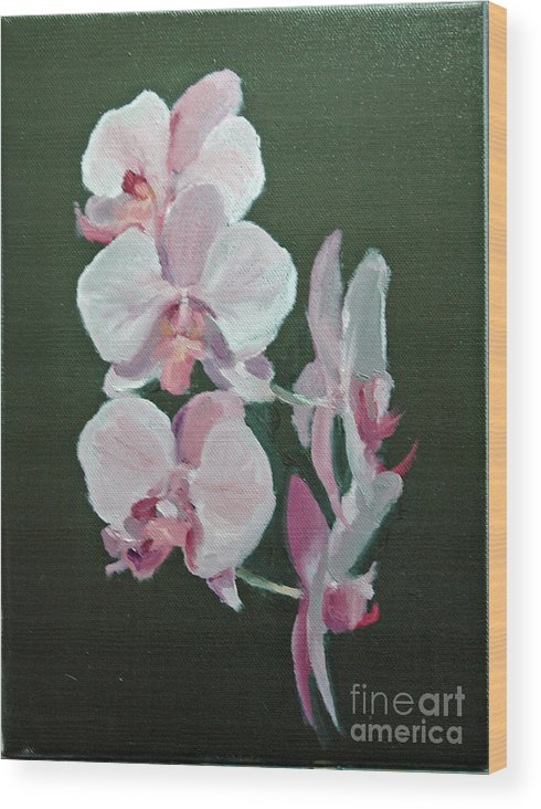 Floral Wood Print featuring the painting Orchids For Didi by Glenn Secrest
