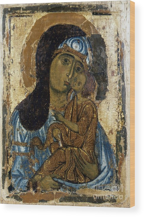 12th Century Wood Print featuring the photograph Our Lady Of Tenderness by Granger