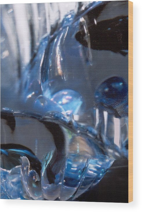 Glass Wood Print featuring the photograph Panel 2 From Swirl by Steve Karol