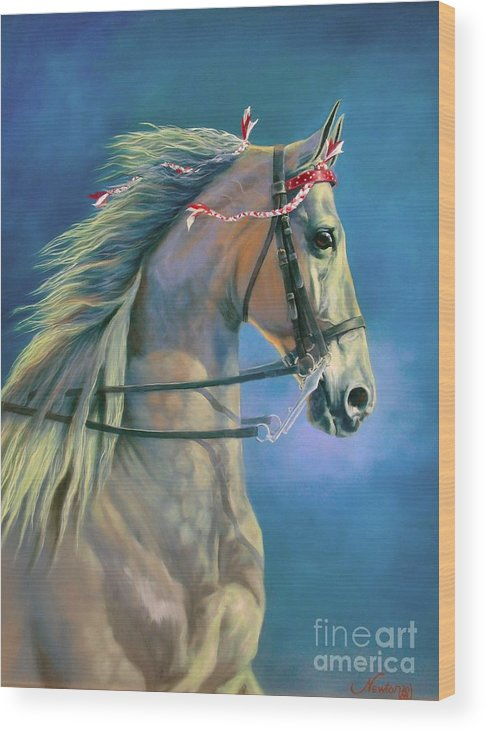 Horse Wood Print featuring the painting Paranormal by Jeanne Newton Schoborg