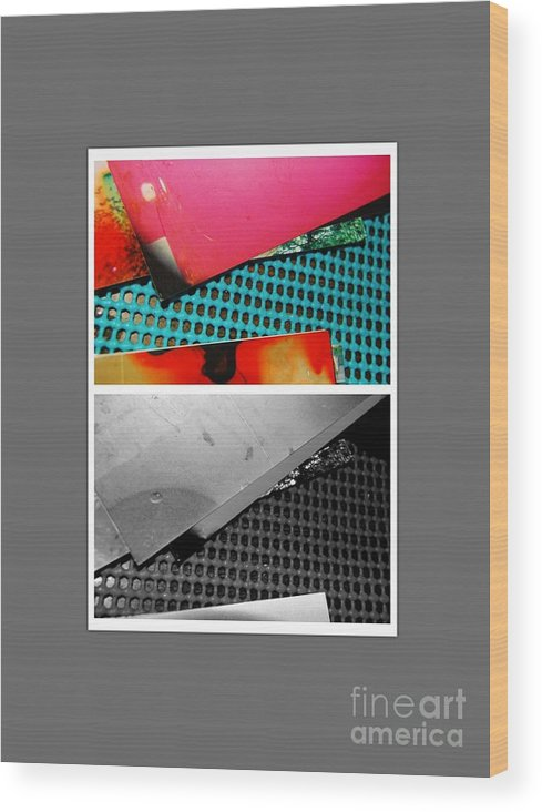 Abstract Wood Print featuring the photograph Ready Red by Alwyn Glasgow