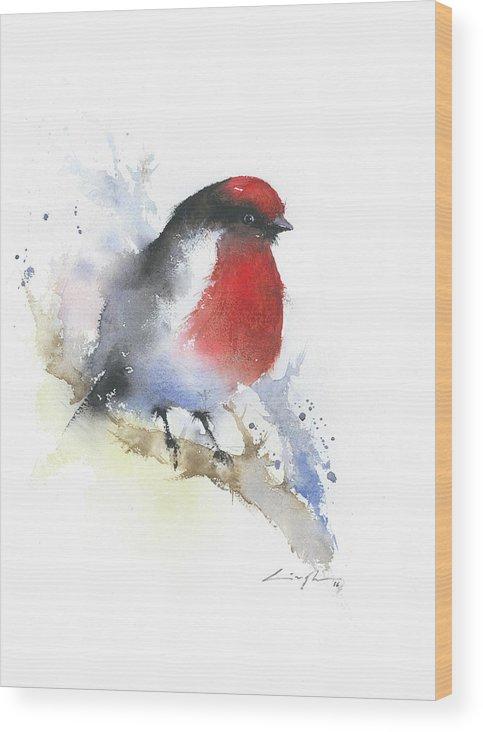 robin watercolor print wall art bird painting bird art print