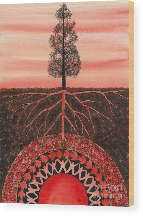 Chakra Wood Print featuring the painting Root Chakra by Catherine G McElroy