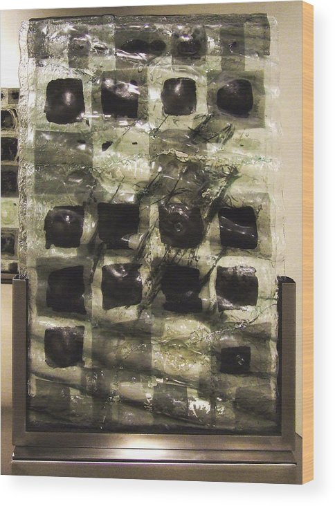 Newspaper Wood Print featuring the sculpture The Fourth River by Sarah King