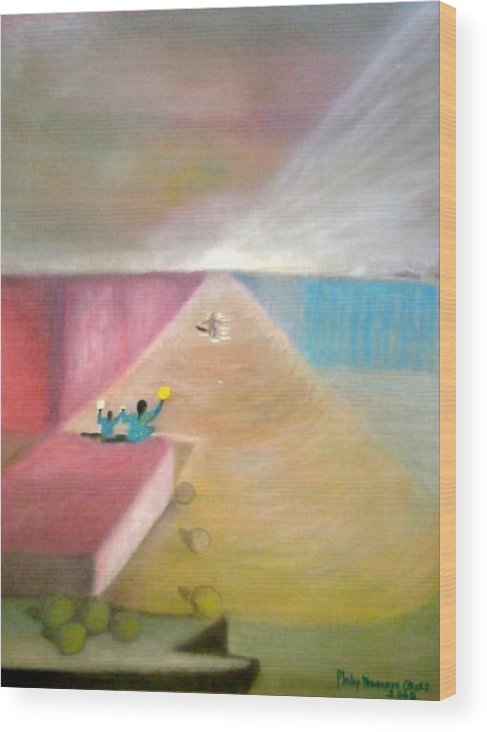 Art Wood Print featuring the painting The Great Return by Philip Okoro
