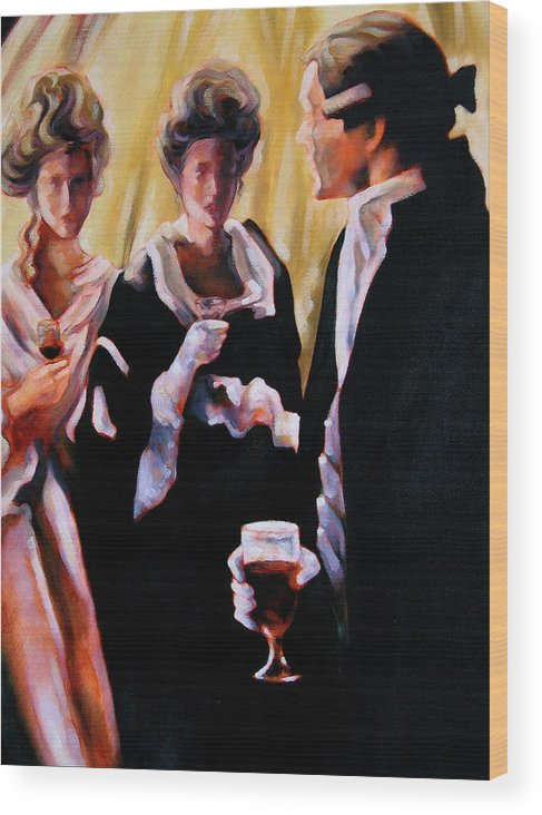 Figurative Wood Print featuring the painting The Introduction by Stuart Gilbert