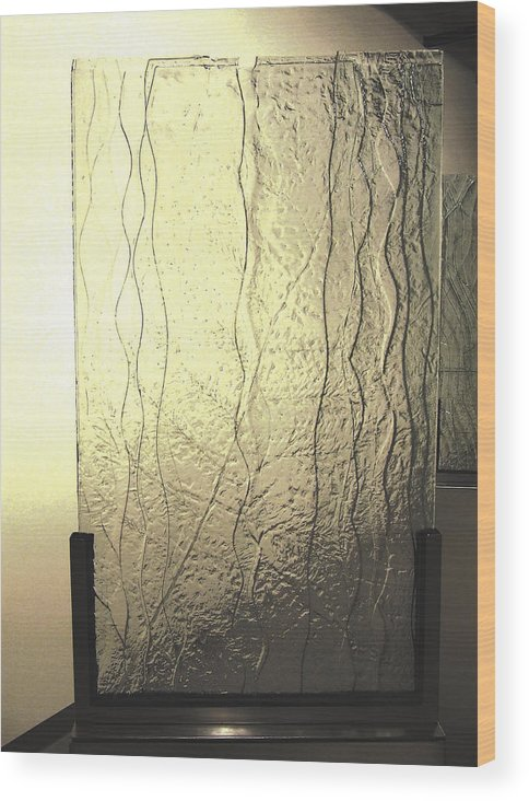 Glass Wood Print featuring the sculpture 'the Iris River' by Sarah king
