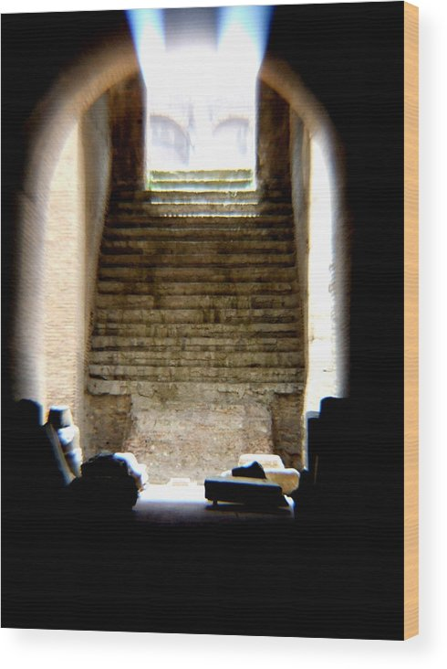 Colliseum Wood Print featuring the photograph The Way by Chuck Shafer