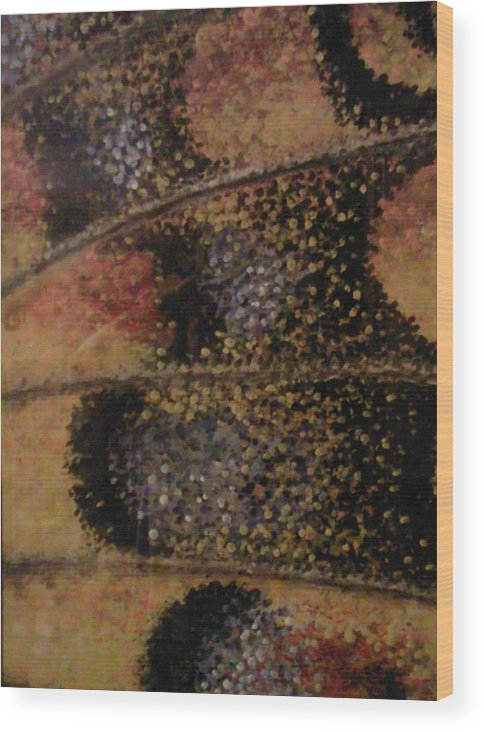 Butterfly Wing Nature Wood Print featuring the painting The Wing Of An Angel by Sally Van Driest
