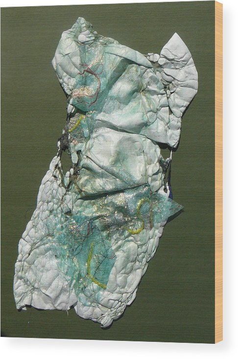 Textural Wood Print featuring the mixed media To The Nines by Jan Bennicoff