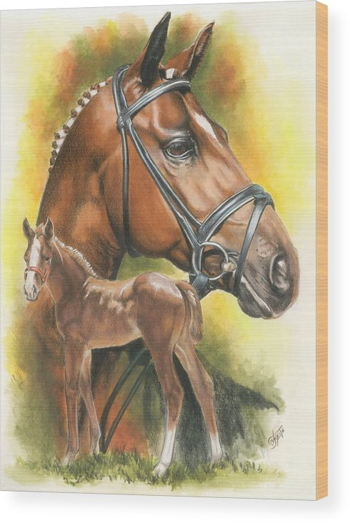 Jumper Hunter Wood Print featuring the mixed media Trakehner by Barbara Keith